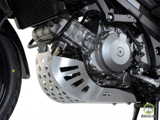 Bashplate – silver (must be mounted with Crashbars) Suzuki DL 1000 V-Strom (1)