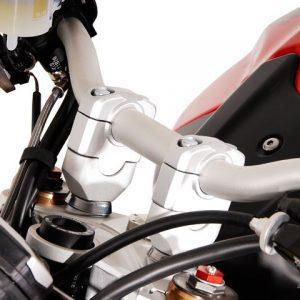 Handlebar Riser – 28mm Bar = 30mm Height (Silver) (KTM1190) (3)