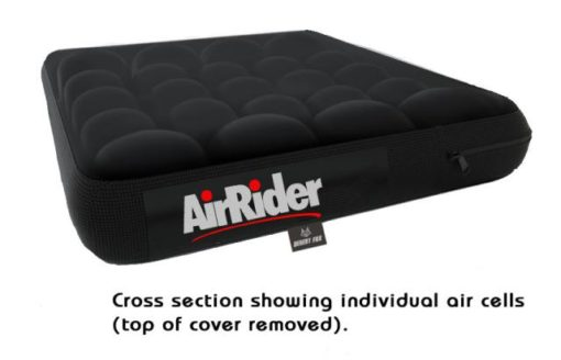 Airhawk wheelchair, office , car comfort seat cross section