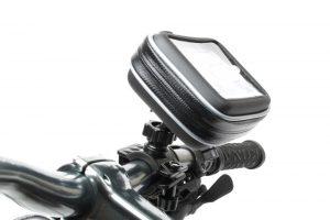 Integrated Motorcycle handlebar GPS mount