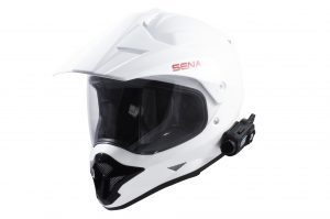 Motorcycle communication system helmet mount