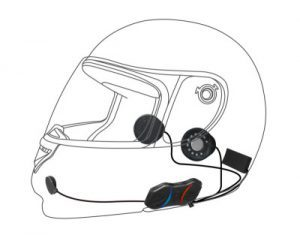 Helmet instillation of 10R Slim communication system