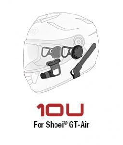 Custom fit motorcycle Bluetooth communication for Shoei GT-Air