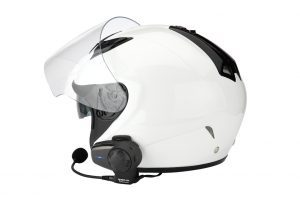 Motorcycle communication system on helmet