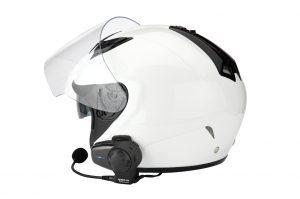Motorcycle communication system on helmet