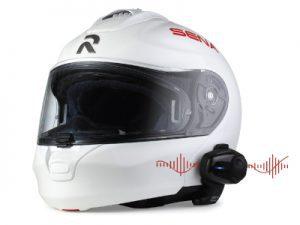 Sena communication system on helmet