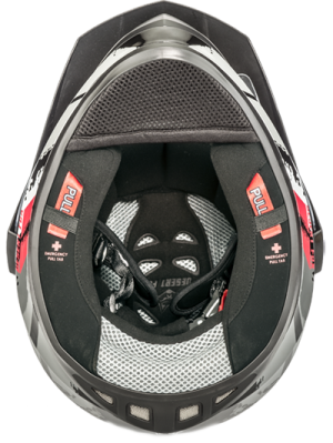 Dual Sport Motorcycle Safety Helmet Safety system