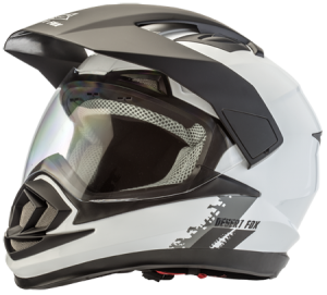 Adventure motorcycle safety helmet plain white