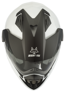 Desert Fox motorcycle safety helmet top view
