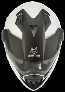 Desert Fox motorcycle safety helmet top view