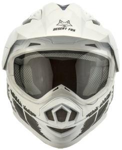 Desert Fox motorcycle safety helmet front view