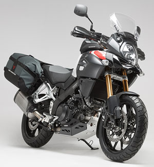 Honda motorcycle soft luggage with framing