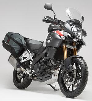 Honda motorcycle soft luggage with framing