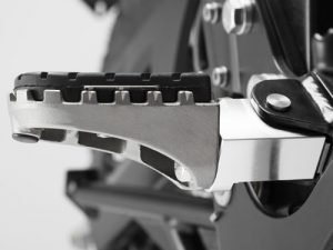 Height Adjustable Wide Foot Pegs Rubber