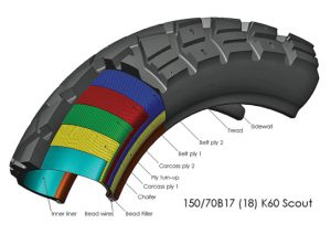 Dual Sport Motorcycle Tyre cross section