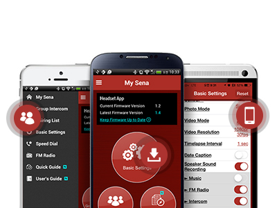 Smartphone app for Sena