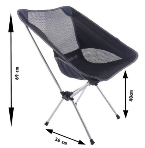 mini camping chair size