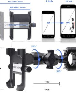 dimensions of cell phone holder for bikes