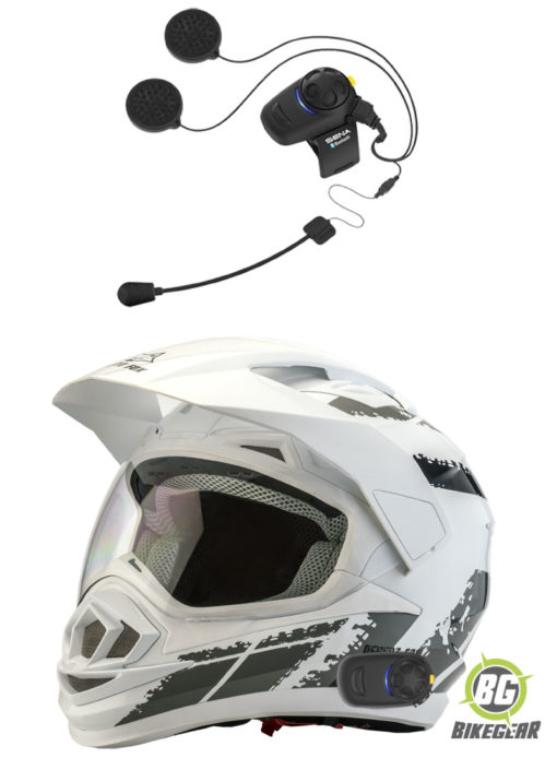Desert-Fox-Enduro-3-in-1-Motorcycle-Helmet-Decal-White-fitted-with-Sena-SMH5-motorcycle-intercom