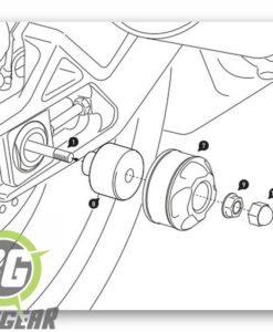 Fitting instructions rear crash bobbin kit F 850 gsa/ GS 750 BMW