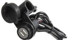12V motorcycle USB handlebar charger